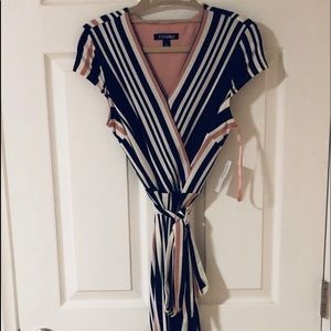 NWT Fit and Flare Striped Dress